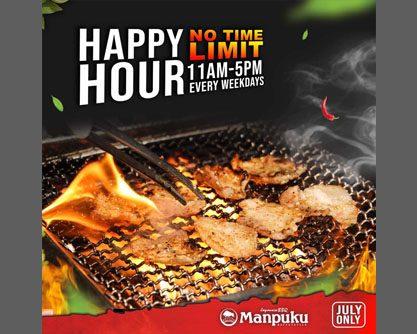 Manpuku ရဲ့ No Time Limit & Happy Hour အစီအစဉ်လေး