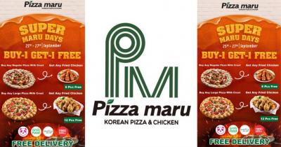 ရက်အကန့်အသတ်နဲ့ Pizzamaru ရဲ့ Buy 1 Get 1 Free